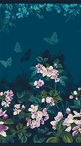 Mystic Panel de jardín ~ Teal ~ algodón tela by Northcott