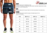 "Pudolla Men's 2 in 1 Running Shorts 5"" Quick Dry"