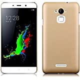 SDO™ Luxury Matte Finish Rubberised Slim Hard Case Back Cover for Coolpad Note 3 Lite (Champagne Gold)