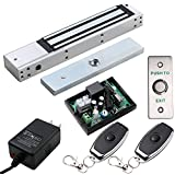 UHPPOTE Access Control Outswinging Door 600lbs Electromagnetic Lock kit Remote Kit