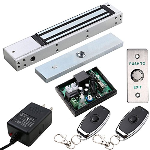 600 Lb Magnetic Lock (UHPPOTE Access Control Outswinging Door 600lbs Electromagnetic Lock kit With Remote Kit)