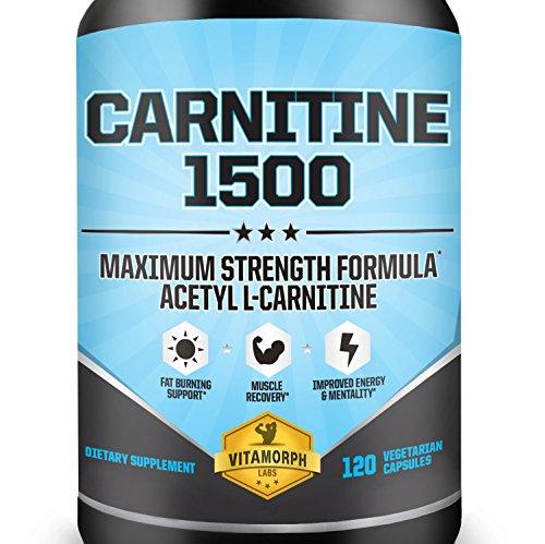 Acetyl L-Carnitine 1500mg Per Serving | Highest Potency Acetyl L-Carnitine HCl Supplement for Mentality, Energy, Fat Metabolization & Weight Loss | 100% Money Back Guarantee | 120 Vegetarian Capsules