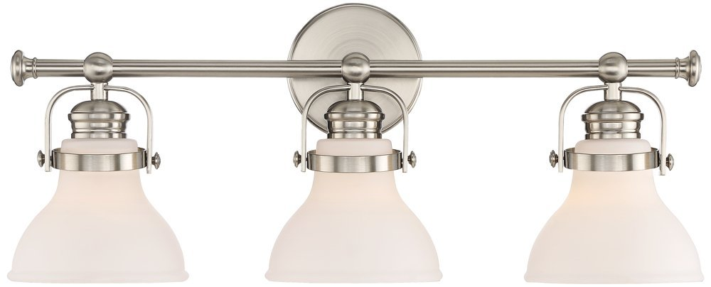 Olsen 24'' Wide 3-Light Satin Nickel Bath Light