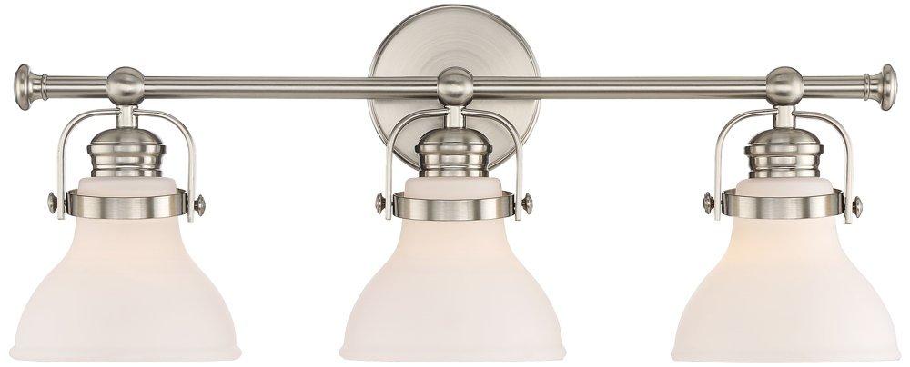 Olsen 24'' Wide 3-Light Satin Nickel Bath Light by Possini Euro Design