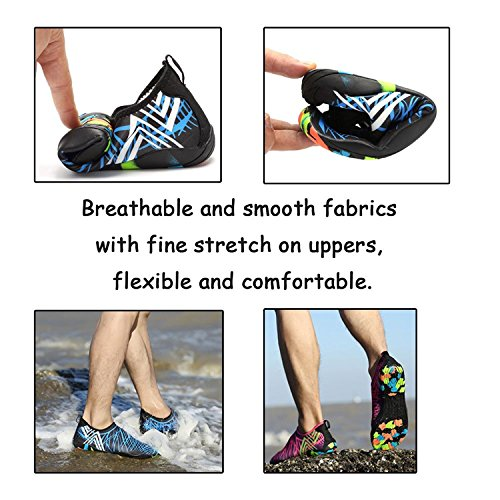 Water Socks Women Quick Skin amp;green C3 Men Shoes Beach Barefoot Dry PENGCHENG black Aqua Sports Swim dUxnq7fggF