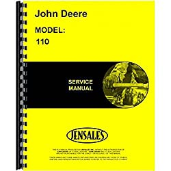 New Service Manual For John Deere 110 Lawn & G