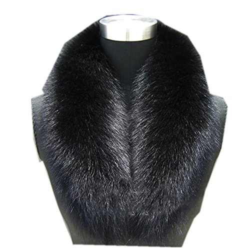 Gegefur Natural Color Raccoon Fox Real Fur Collar Scarf Genuine Big Size Scarves Warp Shawl Neck Warmer Stole Muffler with Clip Loops (110cm, (Genuine Real Fox)