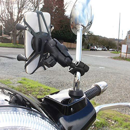 TOOGOO Rail Mount 1 Ball Car Headrest Motorcycle Scooter Rearview Mirror Stem Bar Mount For Gar Min For Ram Mounts
