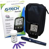 Kit Medidor De Glicose G-tech 10 Tiras Lancetas Lancetador
