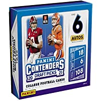 $305 » 2021 Panini Contenders Draft Picks Football HOBBY box (6 pks/bx, ONE Autograph card per pk)