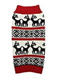 Ugly Vintage Knit Xmas Reindeer Holiday Festive Dog Sweater for Large Dogs, X-Large (XL) Size