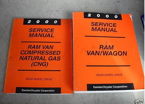 2000 Dodge Ram Van Wagon Service Repair Shop Manual Set (service manual, and the compressed natural gas (cng) service manual supplement.)