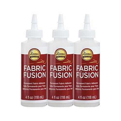 Bulk Buy: Aleene's Fabric Fusion Permanent Fabric Adhesive 3-pack, 4 oz.