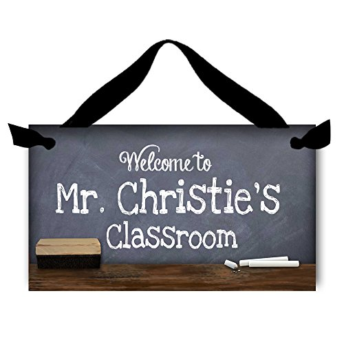 Toad and Lily Teacher Chalkboard Classroom Door Sign Teacher End of Year Gift TDS009 -