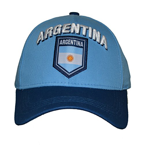 Argentina Hat Cap Adjustable Rhinox Group National Team Soccer Argentina Flag Logo