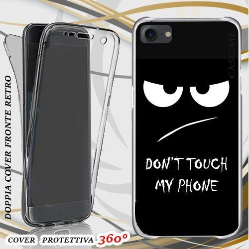 CUSTODIA COVER CASE DON'T TOUCH PER IPHONE 7 FRONT BACK