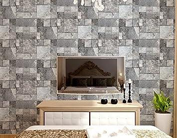 Aensw Tapete Retro Simulation Ziegel Muster 3d Wallpaper Wohnzimmer