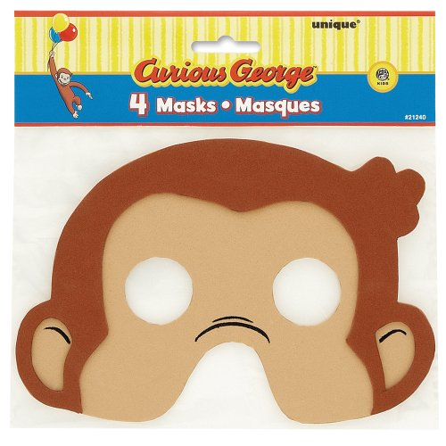 [Curious George Foam Party Masks, 4ct] (Costumes Curious George)