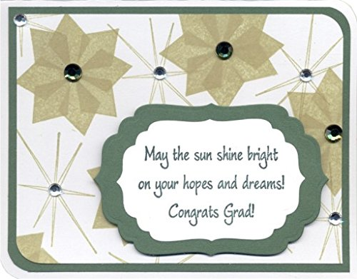 Bright Graduation Greeting Rubber Stamp By DRS Designs