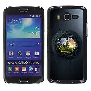 Caucho caso de Shell duro de la cubierta de accesorios de protección BY RAYDREAMMM - Samsung Galaxy Grand 2 SM-G7102 SM-G7105 - View To The Other Side