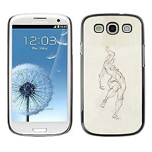 Caucho caso de Shell duro de la cubierta de accesorios de protección BY RAYDREAMMM - Samsung Galaxy S3 I9300 - Pencil Woman Figure Body