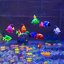 Aquarium Decorations,Govine 12pcs Plastic Artificial Fish for Aquarium Fish Tank Random Color and Pattern