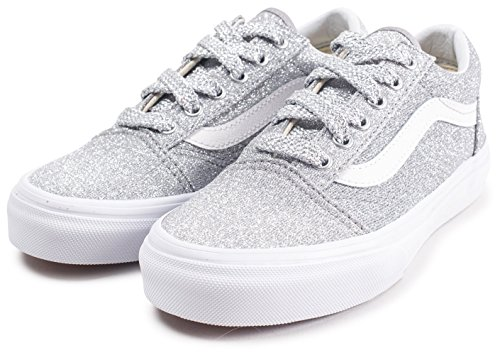 Trainers Old Junior Skool Silver Glitter Lurex Silver UY Vans PHBpqPg