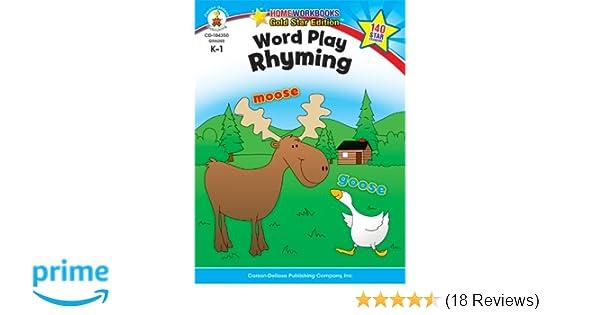 Word Play: Rhyming, Grades K - 1: Gold Star Edition (Home Workbooks ...