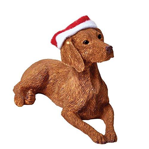 Sandicast Vizsla with Santa Hat Christmas ()