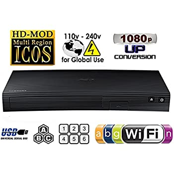 Samsung BD-5700 Multi Region Free Zone Blu-Ray DVD Player
