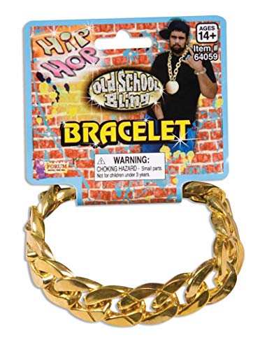 Forum Novelties Gold Chain Link Bracelet Standard