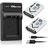 OAproda 2 Pack of NP-BX1 Battery and Ultra Slim Micro USB Charger for Sony NP BX1/M8, Cyber-shot DSC- RX100, RX100 RII, RX1, RX1R, RX100M II, RX100 V, HX80, HX300, HX400, HX50V, HX90V, WX300, WX350