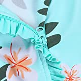 HUAANIUE Baby Girls Swimsuit Rashguard Swimwear One Piece Aqua 12-18 Months