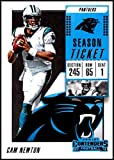 2018 Panini Contenders Season Tickets #84 Cam Newton Carolina Panthers NFL Football Trading Card