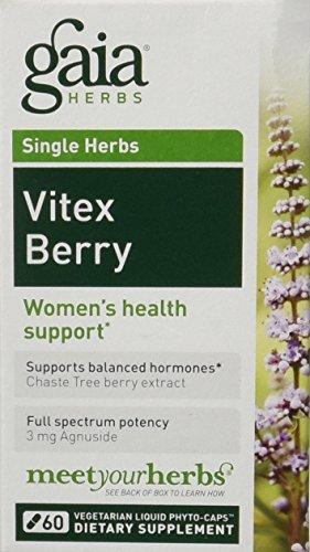 Gaia herbes Vitex Berry, 60 Phyto-gélules liquides