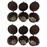 DSRG★REUSABLE★ REFILLABLE★ Coffee Capsules for Nescafé® Dolce Gusto Brewers Cup Filter | Compatible with DeLonghi, Mini Me, Genio, Piccolo, Esperta, Melody2, Krup's and Circolo (6)