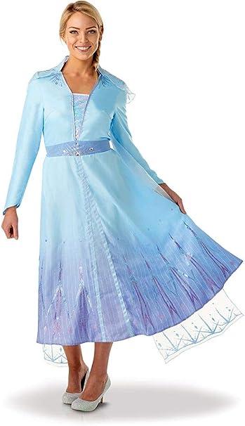 Oferta amazon: Rubies - Disfraz oficial de Disney Frozen 2, Elsa de lujo, para adultos, talla Talla Large Uk 16-18
