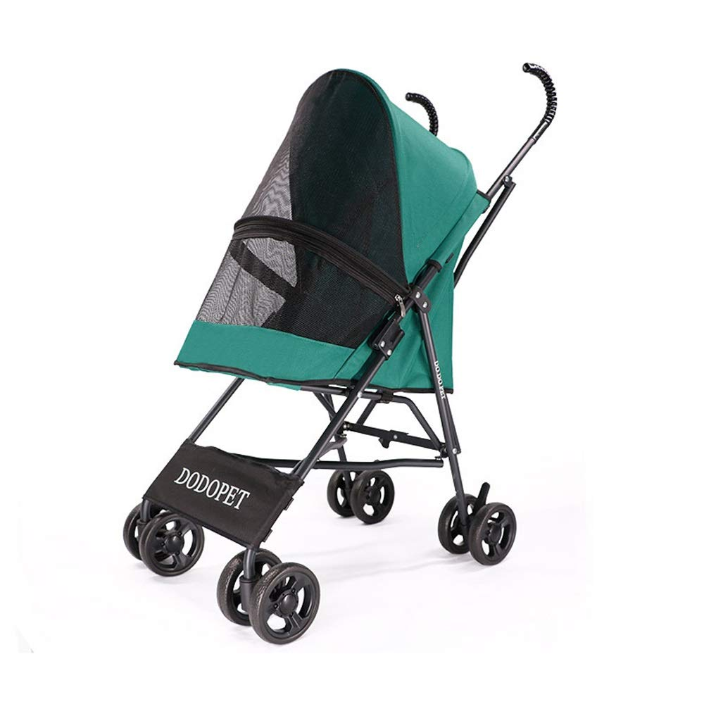 Pet Stroller Dog Out of The Four-Wheeled Cart Light and Large Space