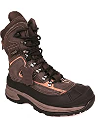LB Men's Leather Insulated Waterproof Construction Rubber Sole Winter Snow Skii Boots