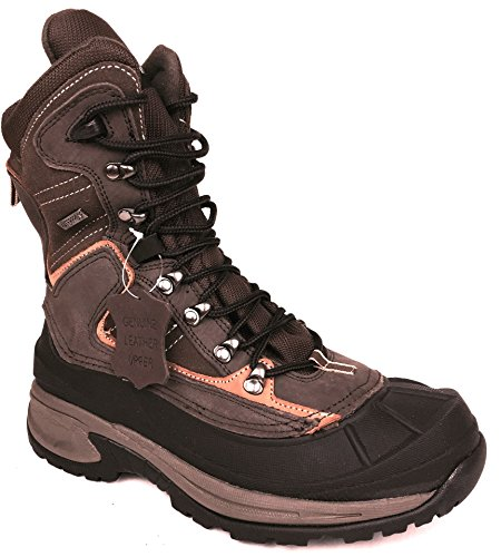 LB Mens Leather Insulated Waterproof construction Rubber Sole Winter Snow Skii Boots