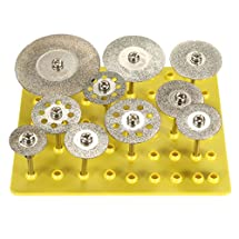 "BABAN 10X 1/8"" Diamond Saw Cut Off Discs Wheel Blades Rotary Tool Set Shank for Dremel"