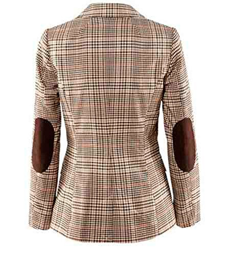 My Wonderful World Blazer Coat Jacket Mww Women Long Sleeves OL Business Plaid Formal Blazer US 6 by My Wonderful World Blazer Coat Jacket (Image #3)