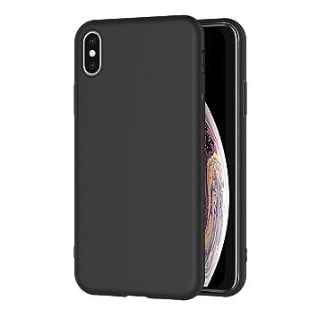 AICEK Funda iPhone XS MAX, Negro Silicona Fundas para iPhone XS MAX Carcasa iPhone XS MAX Negro Silicona Funda Case (6,5 Pulgadas)