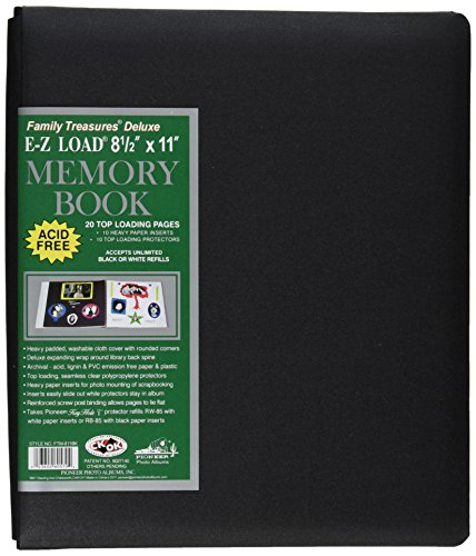 Fabric Padded Photo Albums (Pioneer 8-1/2-Inch by 11-Inch Family Treasures Deluxe Fabric Postbound Album, Black)