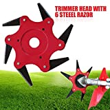 Ball's Outdoor Trimmer Head 6 Steel Blades Razors 65Mn Lawn Mower Grass Weed Eater Brush Cutter Tool