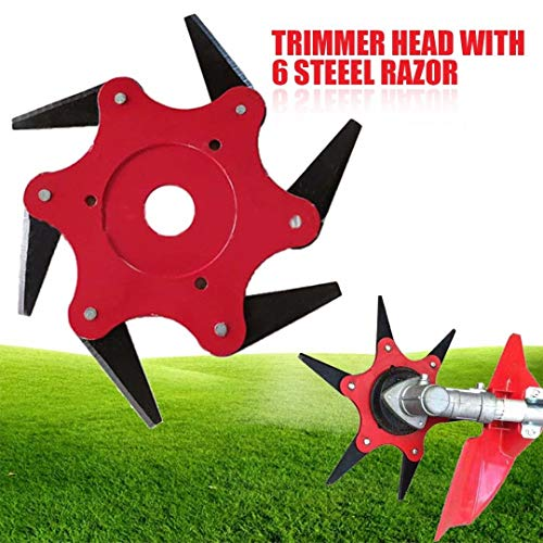 Ball's Outdoor Trimmer Head 6 Steel Blades Razors 65Mn Lawn Mower Grass Weed Eater Brush Cutter (Best Weed Eater Head Weed Eaters)