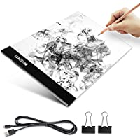 A4 Light Box, Elfeland Ultra-thin Portable Tracer USB Powered LED Artcraft Tracing Light Pad Copy Board for 2D Animation Drawing Sketching