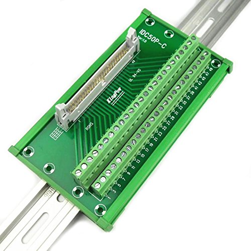 "Terminal Block IDC50 2x25 Pins 0.1/"" Male Header Breakout Board Connector."