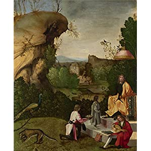 Oil painting 'Follower of Giorgione Homage to a Poet ' printing on Perfect effect canvas , 20 x 25 inch / 51 x 62 cm ,the best gift for girl friend and boy friend and Home decoration and Gifts is this Reproductions Art Decorative Canvas Prints