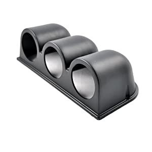 "ESUPPORT Car 2"" 52mm Triple Hole Dash Gauge Pod Holder Black"